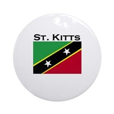 St. Kitts Flag Ornament (Round)
