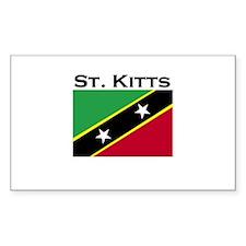 St. Kitts Flag Rectangle Decal