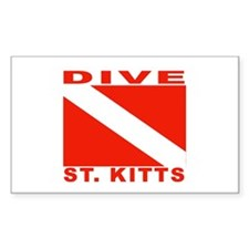 Dive St. Kitts Rectangle Decal