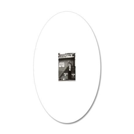 License Photo Studio 20x12 Oval Wall Decal