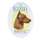 Eggstra Special German Pinscher Oval Ornament