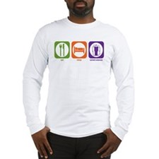 Eat Sleep Social Sciences Long Sleeve T-Shirt