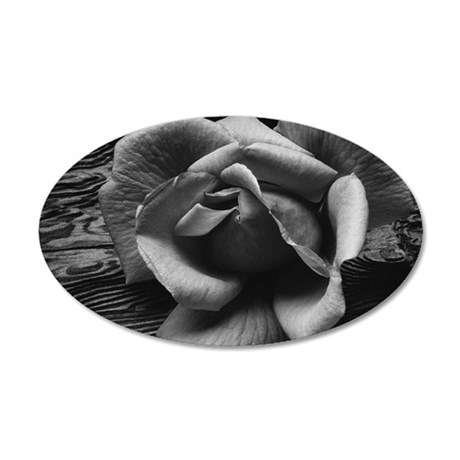 Ansel Adams Rose And Driftwo 35x21 Oval Wall Decal