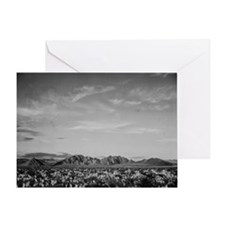 Ansel Adams Distant view of mountain Greeting Card