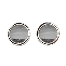 Ansel Adams Distant view of mountains Cufflinks