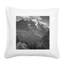 Ansel Adams Glacier National  Square Canvas Pillow