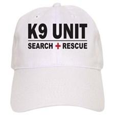 K9 Unit Search Rescue Sticker Baseball Cap