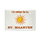I'd Rather Be In St. Maarten Rectangle Magnet