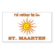 I'd Rather Be In St. Maarten Rectangle Decal