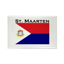 St. Maarten Flag Rectangle Magnet (10 pack)