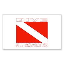 Dive St. Maarten Rectangle Decal