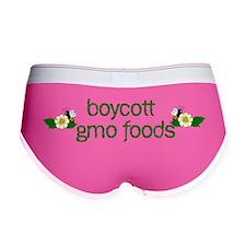 Boycott GMO Foods Women's Boy Brief