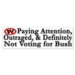 Paying Attention, Outraged, and Not Bush