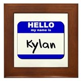 hello my name is kylan  Framed Tile