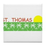 St. Thomas, USVI Tile Coaster