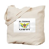 St. Thomas, USVI Flag Tote Bag