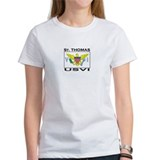 St. Thomas, USVI Flag Tee