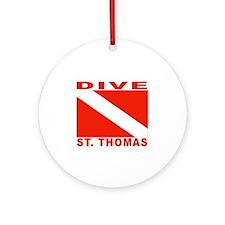 Dive St. Thomas, USVI Ornament (Round)