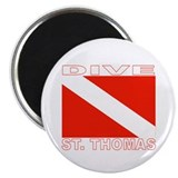 "Dive St. Thomas, USVI 2.25"" Magnet (100 pack)"