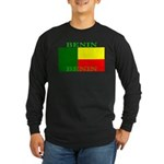 Benin Flag Long Sleeve Dark T-Shirt