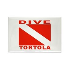 Dive Tortola Rectangle Magnet