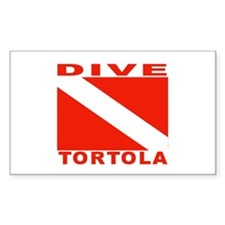 Dive Tortola Rectangle Decal