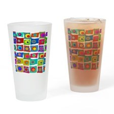 MCM Funky Squares Drinking Glass