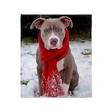 Pit bulls Fleece Blankets