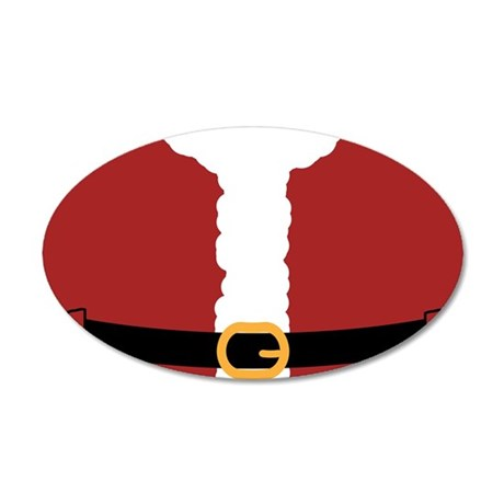 Santa Costume Red-01 35x21 Oval Wall Decal