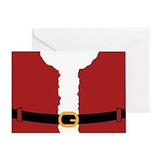 Santa Costume Red-01 Greeting Card