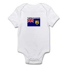 Turks & Caicos Flag Infant Bodysuit