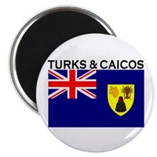 "Turks & Caicos Flag 2.25"" Magnet (100 pack)"