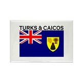 Turks & Caicos Flag Rectangle Magnet (10 pack)