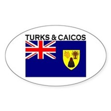 Turks & Caicos Flag Oval Decal