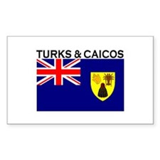 Turks & Caicos Flag Rectangle Decal