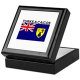 Turks & Caicos Flag Keepsake Box