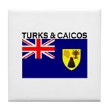 Turks & Caicos Flag Tile Coaster