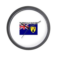 Turks & Caicos Flag Wall Clock