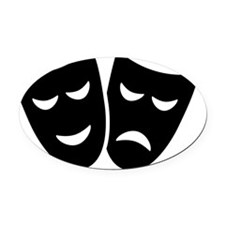 Drama Oval Car Magnet