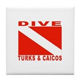 Dive Turks & Caicos Tile Coaster