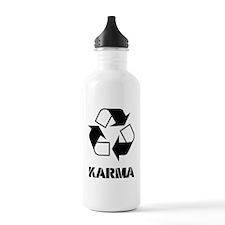 Karma - what goes arou Water Bottle
