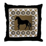 Paso Brown Throw Pillow