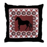 Paso Burgandy Throw Pillow