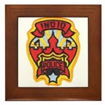 Indio Police Framed Tile
