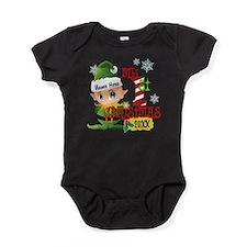 Baby Elf 1st Christmas Baby Bodysuit