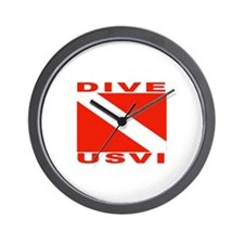 Dive U.S.V.I. Wall Clock