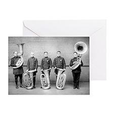 Police Band Tuba Players Greeting Card
