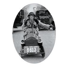 Flapper Driving Pedal Car Oval Ornament