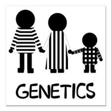 "genetics Square Car Magnet 3"" x 3"""