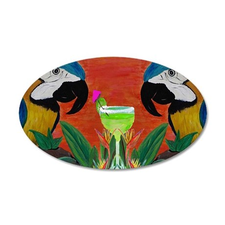 Parrot head 35x21 Oval Wall Decal